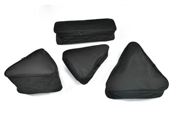 4 pack set of frame bags for items like helmets, shoes and clothes